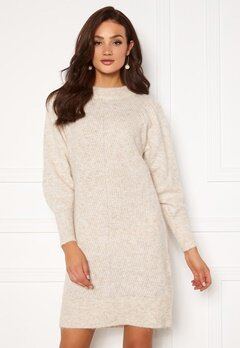 SELECTED FEMME Linna LS Knit Dress Sandshell Bubbleroom.dk