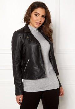 SELECTED FEMME Marlen Leather Jacket Black Bubbleroom.dk