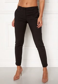 SELECTED FEMME Muse Fie Cropped MW Pant Black Bubbleroom.dk