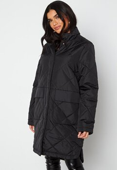 SELECTED FEMME Naddy Quilted Coat Black bubbleroom.dk