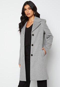 SELECTED FEMME New Sasja Wool Coat Light Grey Melange bubbleroom.dk