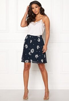 SELECTED FEMME Oriana MW Short Skirt Dark Sapphire Bubbleroom.dk