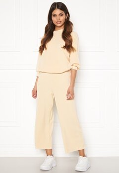 SELECTED FEMME Tenny MW Cropped Wide Pant Birch Bubbleroom.dk