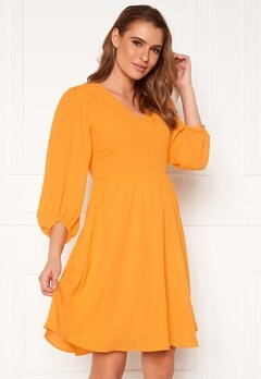 SELECTED FEMME Zix 3/4 Short Dress Radiant Yellow Bubbleroom.dk