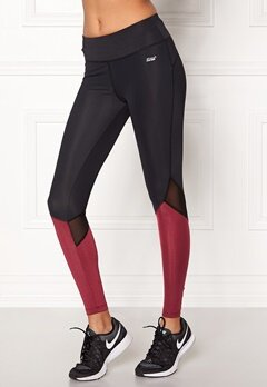 Shape Me Up Stella Tights Black/Burgundy Bubbleroom.dk