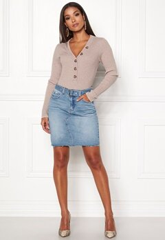 ONLY Signe Short Denim Skirt Light Blue Denim Bubbleroom.dk