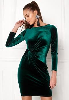 Sisters Point Cofa-V Dress Depp Green Bubbleroom.dk