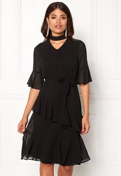 Sisters Point Gabit Dress Black Bubbleroom.dk