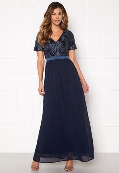 Sisters Point Galio Dress 440 Navy Bubbleroom.dk