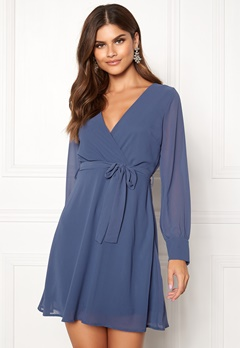 Sisters Point Gerdo Dress 050 Grey/Blue Bubbleroom.dk