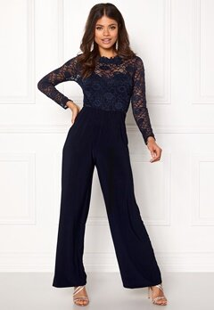 Sisters Point Gihi Jumpsuit Navy/navy Bubbleroom.dk
