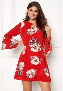 Sisters Point Glans-8 Dress 501 Red/Flower Bubbleroom.dk