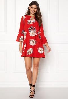Sisters Point Glans-8 Dress 501 Red/Flower Bubbleroom.dk