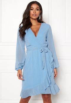 Sisters Point Greto Dress 401 Blue/Lemon Bubbleroom.dk