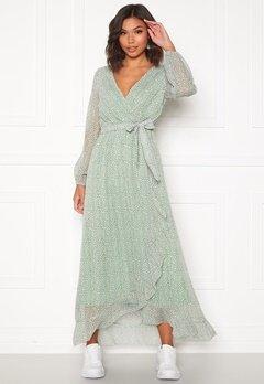 Sisters Point Gush Dress L.Khaki/Leo Bubbleroom.dk