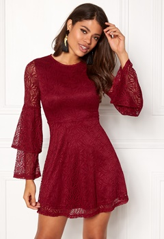 Sisters Point Naffi Dress Ruby Wine Bubbleroom.dk