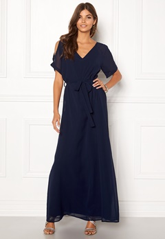 Sisters Point Narva Dress 440 Navy Bubbleroom.dk