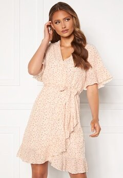 Sisters Point New Greto Dress 117 Cream/Rose Flowe Bubbleroom.dk