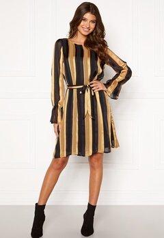 Sisters Point Noki Dress 001 Black/Gold Bubbleroom.dk