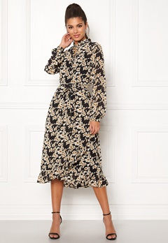 Sisters Point Valli Dress 002 Black/Mustard Bubbleroom.dk
