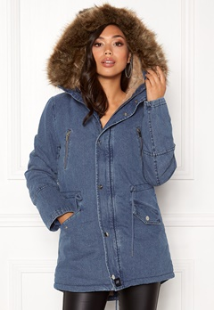 Sixth June Parkas Denim Jacket Blue Denim Bubbleroom.dk