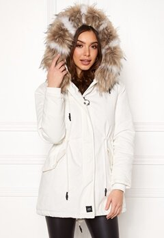 Sixth June Parkas Faux Fur Jacket White/Beige Bubbleroom.dk