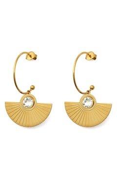 BY JOLIMA Skiathos Earring Pendant Gold Bubbleroom.dk