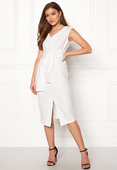 Closet London Sleeveless Midi Dress White Bubbleroom.dk