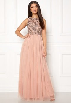AngelEye Sleeveless Sequin Dress Taupe Bubbleroom.dk
