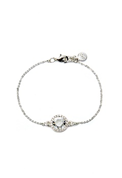 SNÖ of Sweden Lissy Chain Bracelet Silver/Clear Bubbleroom.dk