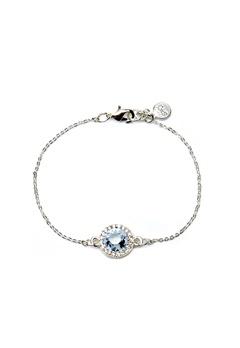 SNÖ of Sweden Lissy Chain Bracelet Silver/Light Aqua Bubbleroom.dk