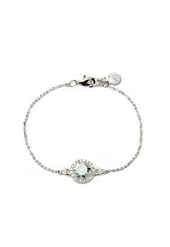 SNÖ of Sweden Lissy Chain Bracelet Silver/Sapphire Bubbleroom.dk