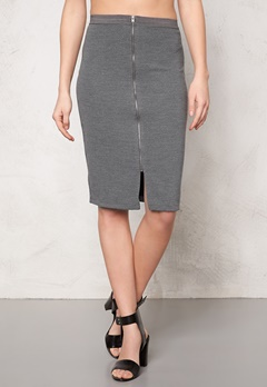 SOAKED IN LUXURY Laureen Skirt Medium Grey Melange Bubbleroom.dk
