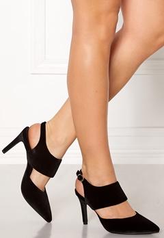 SOFIE SCHNOOR Shoe Open Stiletto Velvet Black Bubbleroom.dk
