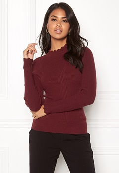 ONLY Sonia L/S Pullover Chocolate Truffle Bubbleroom.dk