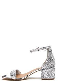 Steve Madden Irenee Sandal Silver Glitter Bubbleroom.dk