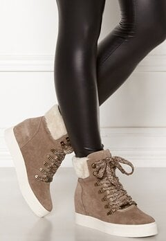 Steve Madden Windy Suede Boots Taupe Bubbleroom.dk