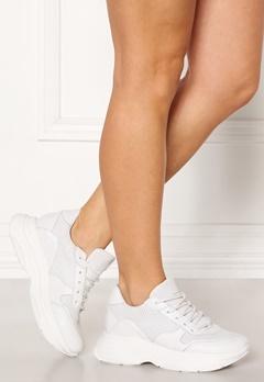 Steve Madden Zela-P Leather Sneaker 107 White Leather Bubbleroom.dk
