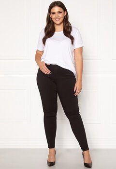 Only Carmakoma Storm Push Up HW SK Jeans Black Bubbleroom.dk
