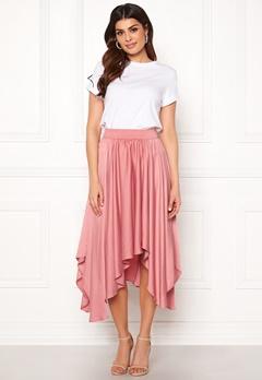 VILA Sulla Asymetric Skirt Brandied Apricot Bubbleroom.dk