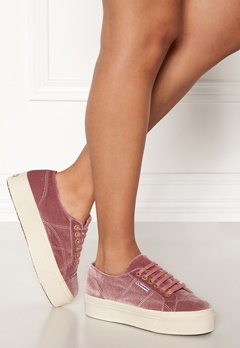 Superga Velvet Sneakers Pink Dusty Rose Bubbleroom.dk