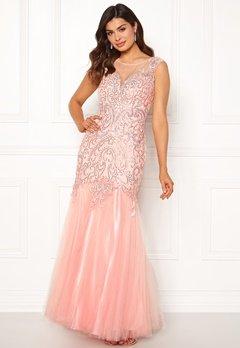SUSANNA RIVIERI Embellished Shine Dress Blush Bubbleroom.dk
