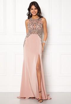SUSANNA RIVIERI Emballished Sparkling Dress Blush Bubbleroom.dk