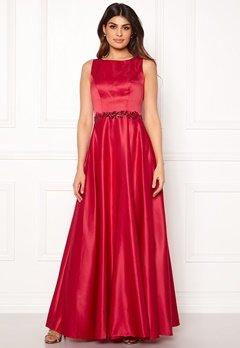 SUSANNA RIVIERI Ceremonial Satin Dress Red Bubbleroom.dk