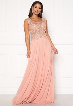 SUSANNA RIVIERI Dream Chiffon Dress Blush Bubbleroom.dk