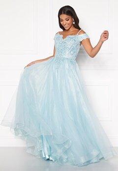 SUSANNA RIVIERI Elsa Prom Dress Ice Blue Bubbleroom.dk