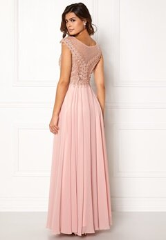 SUSANNA RIVIERI Embellished Beaded Dress Blush Bubbleroom.dk