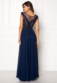 SUSANNA RIVIERI Embellished Beaded Dress Navy Bubbleroom.dk