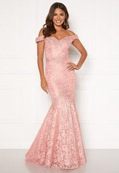 SUSANNA RIVIERI Mermaid Lace Dress Blush Bubbleroom.dk
