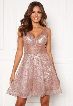 SUSANNA RIVIERI Sparkling Short Glitter Gown Mauve Bubbleroom.dk